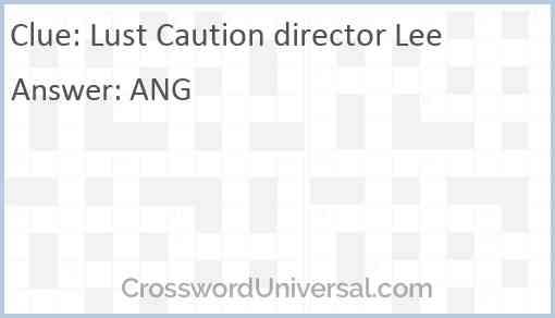 Lust Caution director Lee Answer