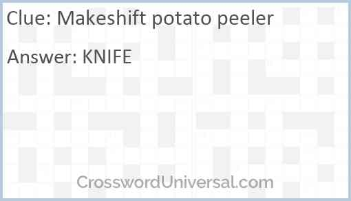 Makeshift potato peeler Answer