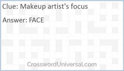 Makeup artist's focus Answer