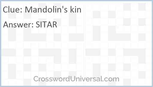 Mandolin's kin Answer