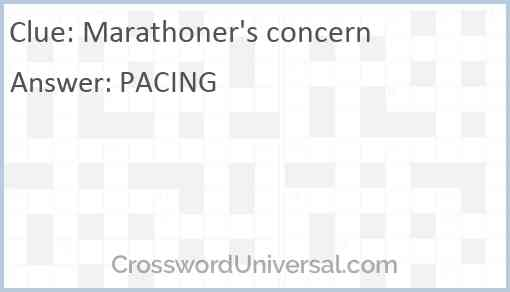 Marathoner's concern Answer