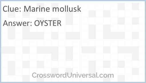 Marine mollusk Answer