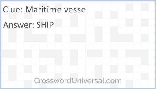 Maritime vessel Answer