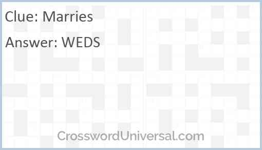 Marries Answer