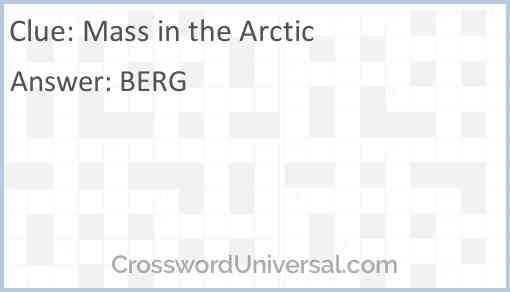 Mass in the Arctic Answer