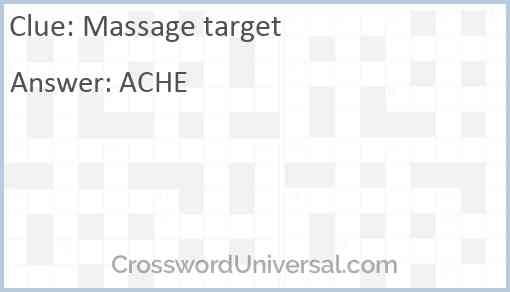 Massage target Answer
