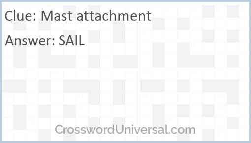 Mast attachment Answer