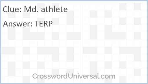 Md. athlete Answer