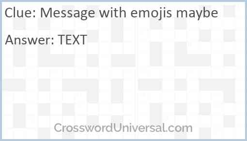 Message with emojis maybe Answer