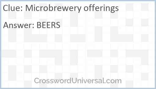 Microbrewery offerings Answer