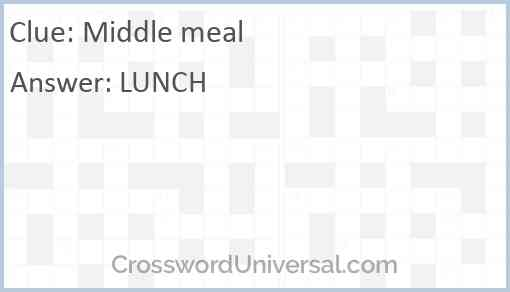 Middle meal Answer
