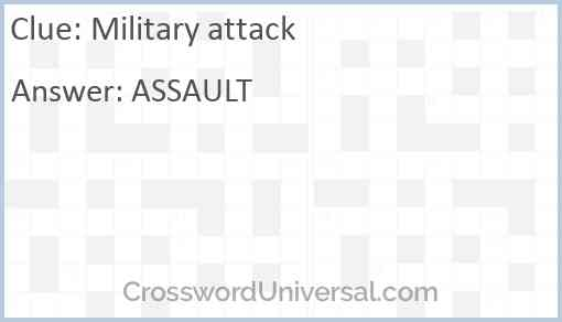 Military attack Answer