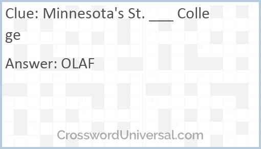 Minnesota's St. ___ College Answer