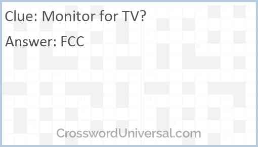 Monitor for TV? Answer