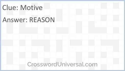 Motive Answer