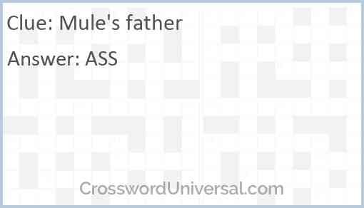 Mule's father Answer