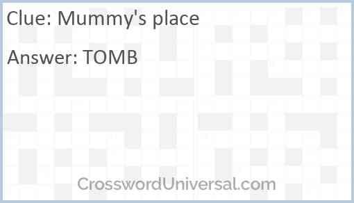 Mummy's place Answer