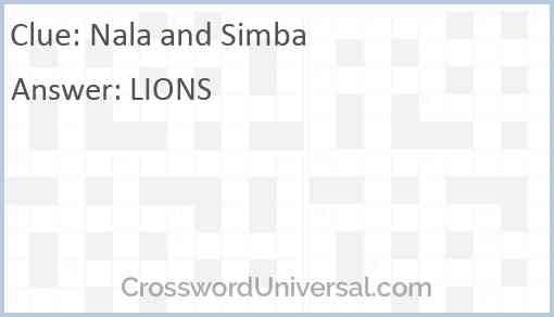 Nala and Simba Answer