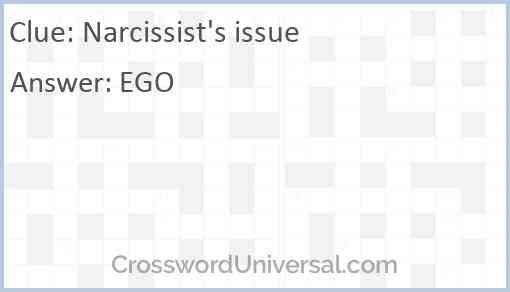Narcissist's issue Answer