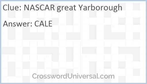 NASCAR great Yarborough Answer