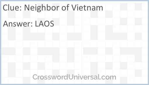 Neighbor of Vietnam Answer