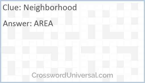 Neighborhood Answer