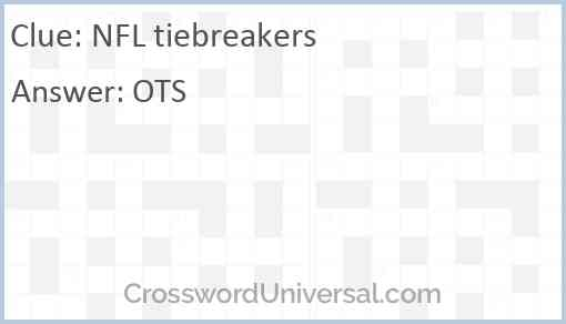 NFL tiebreakers Answer