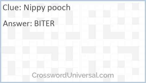 Nippy pooch Answer