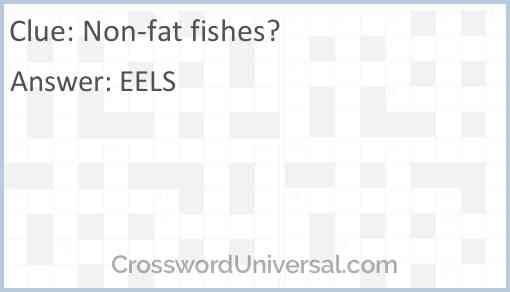Non-fat fishes? Answer