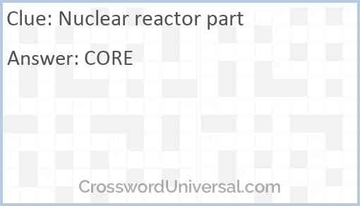 Nuclear reactor part Answer