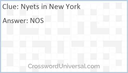 Nyets in New York Answer