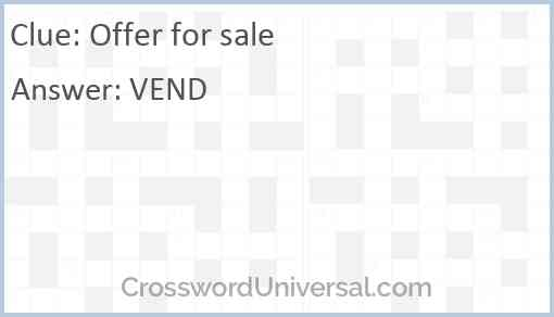 Offer for sale Answer