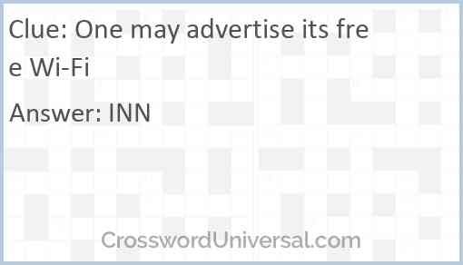 One may advertise its free Wi-Fi Answer