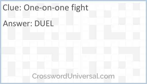 One-on-one fight Answer