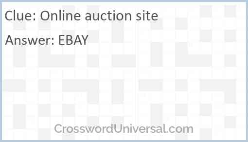 Online auction site Answer