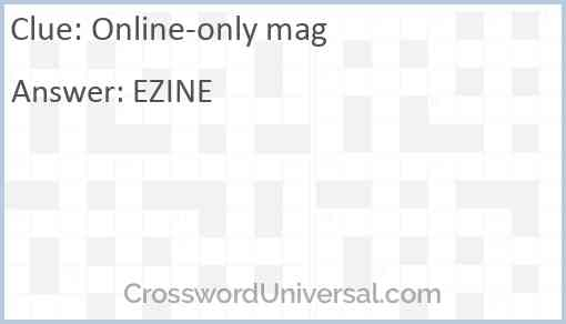 Online-only mag Answer