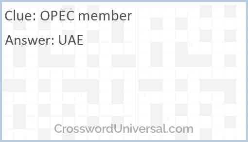 OPEC member Answer