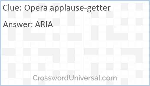 Opera applause-getter Answer
