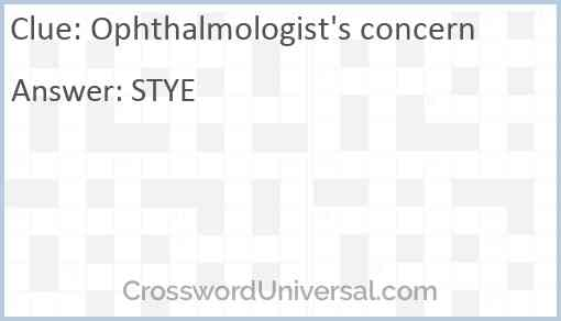 Ophthalmologist's concern Answer