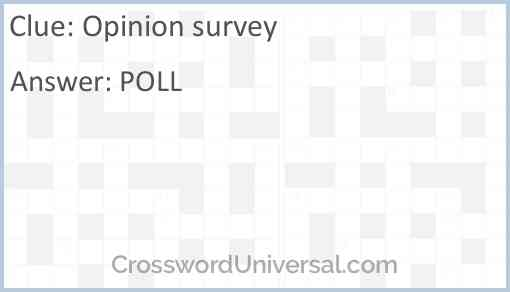 Opinion survey Answer