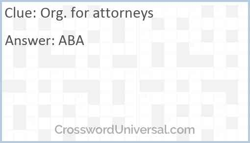 Org. for attorneys Answer