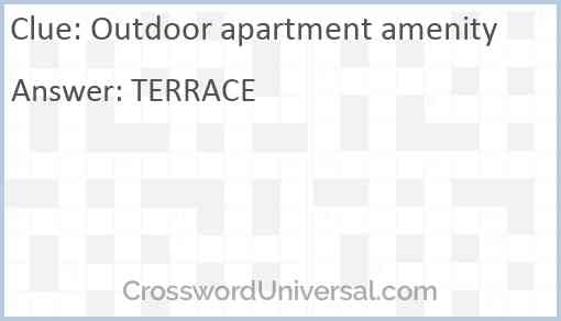 Outdoor apartment amenity Answer