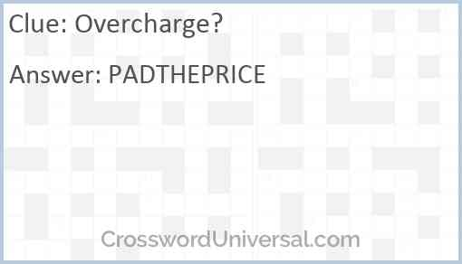 Overcharge? Answer