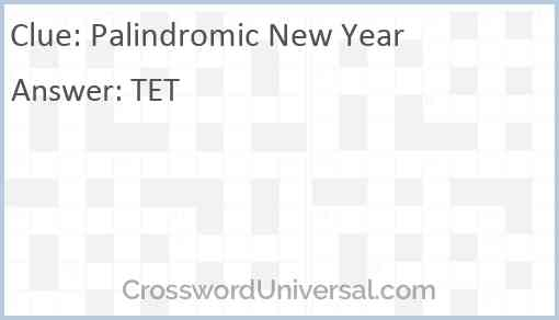 Palindromic New Year Answer