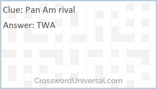 Pan Am rival Answer