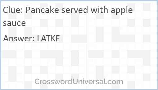 Pancake served with applesauce Answer