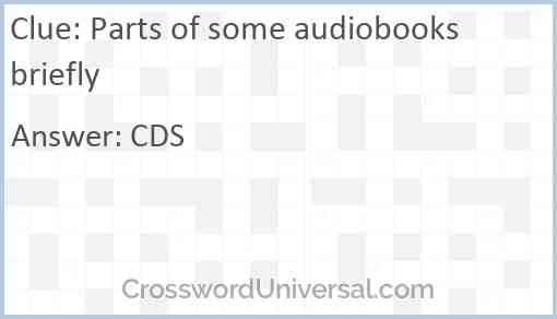 Parts of some audiobooks briefly Answer