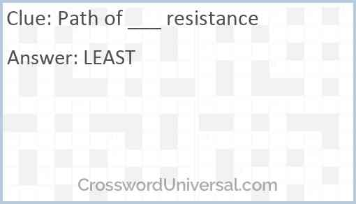 Path of ___ resistance Answer
