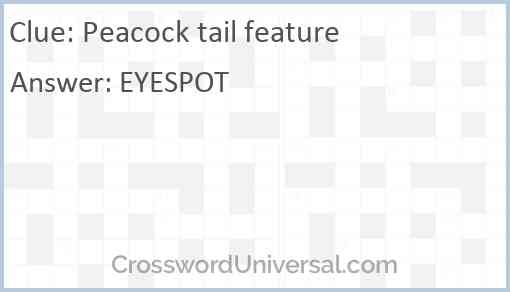 Peacock tail feature Answer