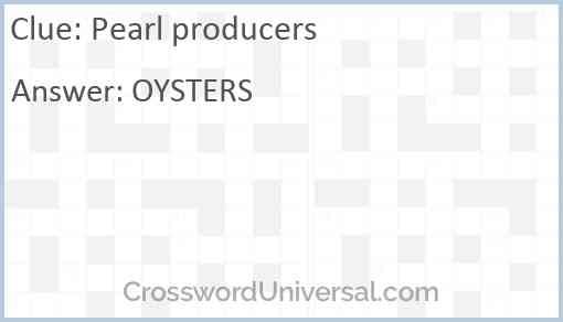 Pearl producers Answer